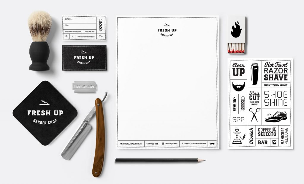 Fresh Up Barber Shop Stationary
