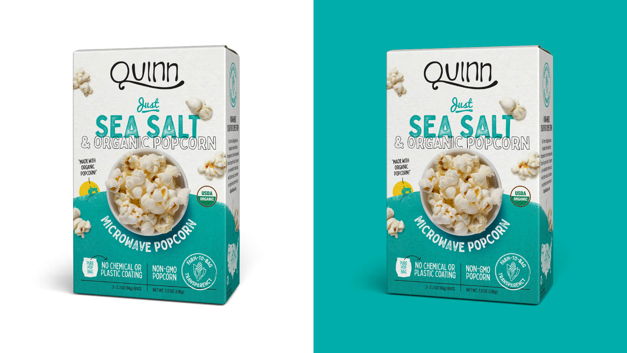Quinn Popcorn Packaging - Just Sea Salt