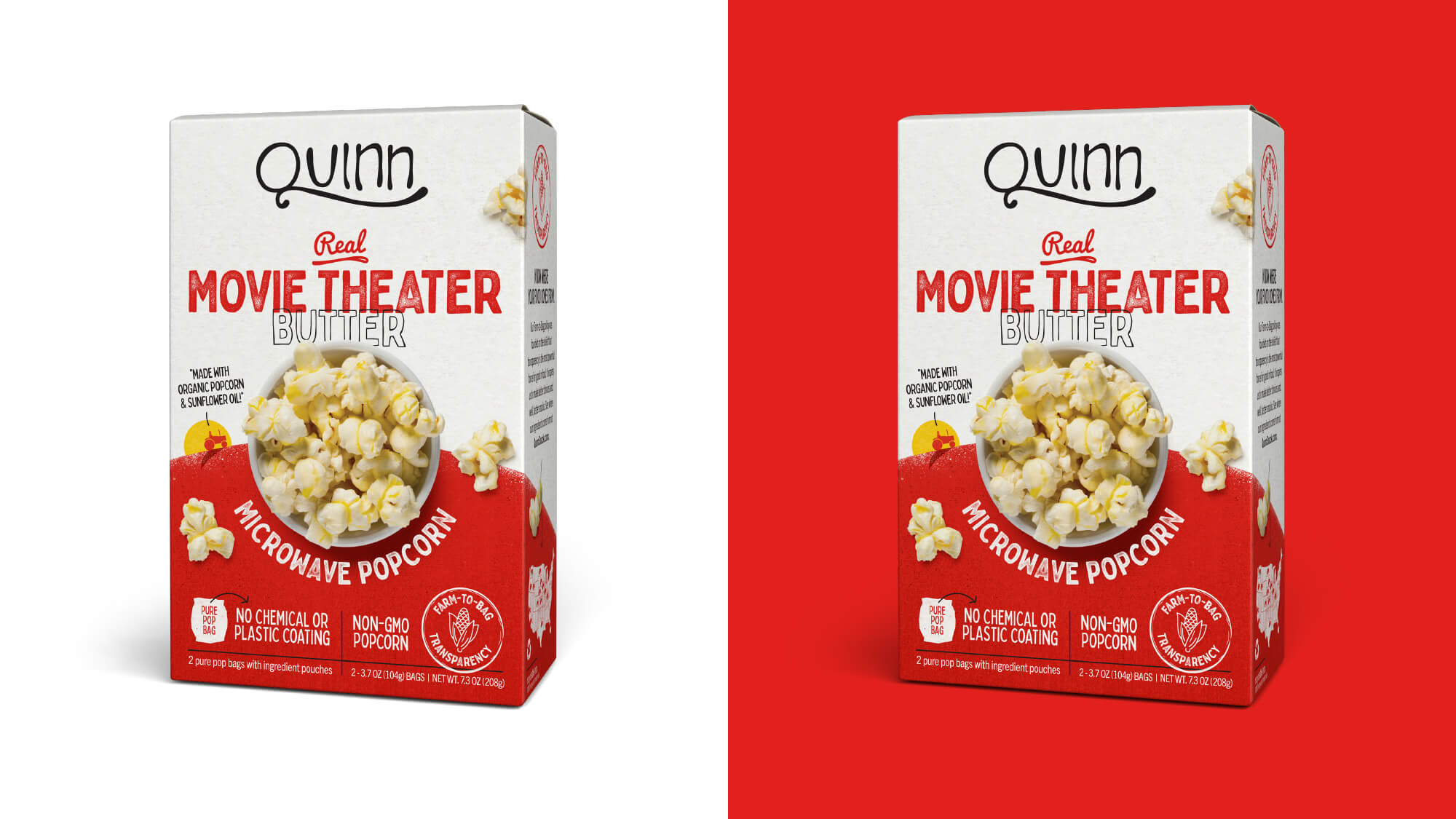 Quinn Popcorn Packaging - Movie Theater Butter