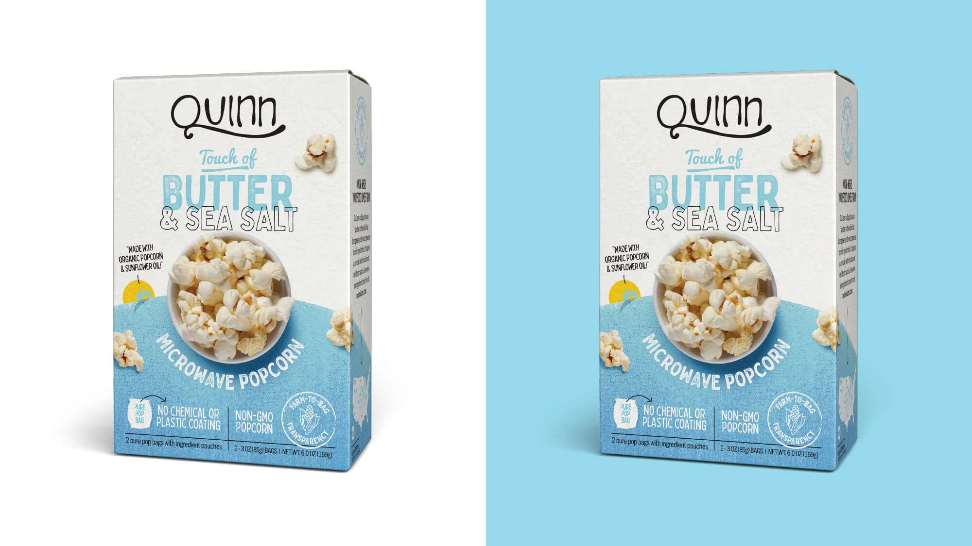 Quinn Popcorn Packaging - Touch Of Butter