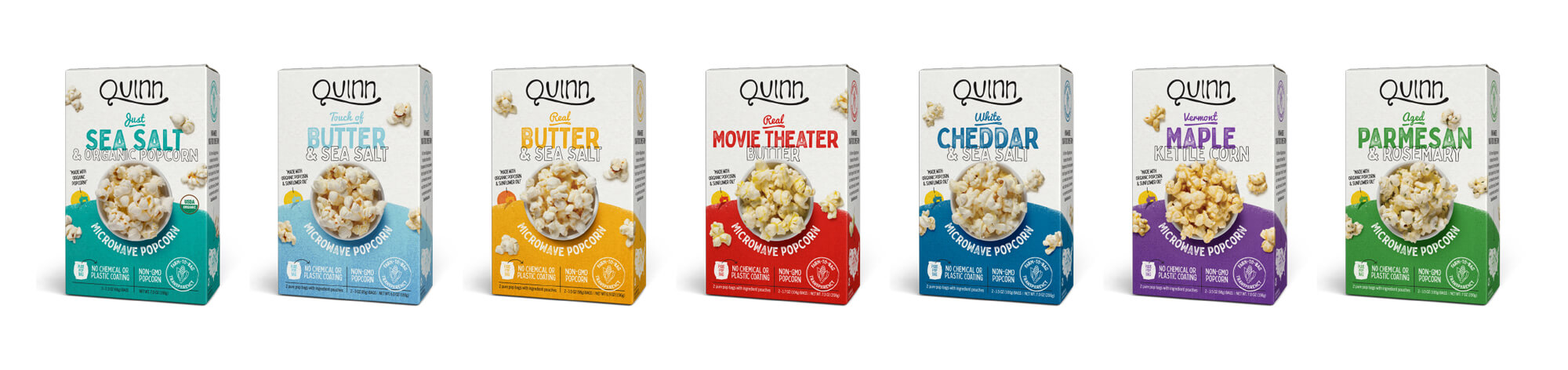 Quinn Popcorn Packaging