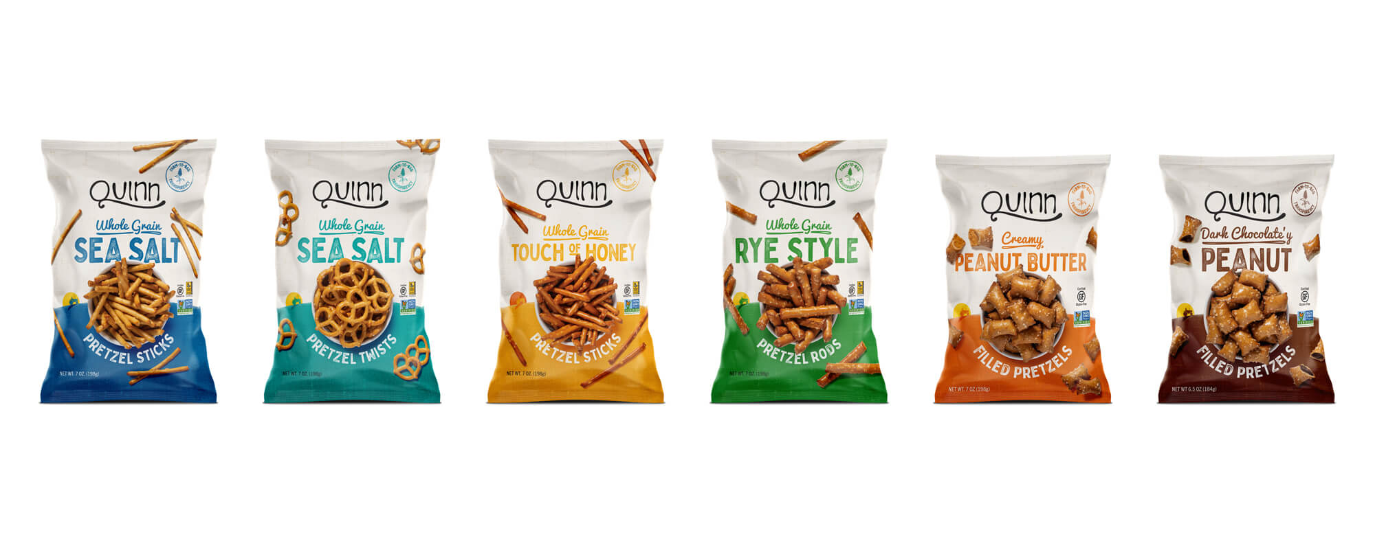 Quinn Pretzels Packaging